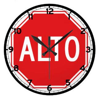 Stop, Traffic Sign, Mexico Wall Clocks