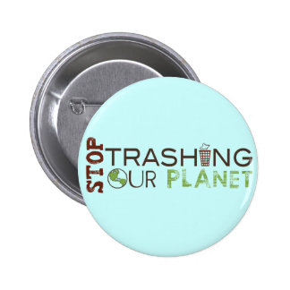 Stop Trash 6 Cm Round Badge