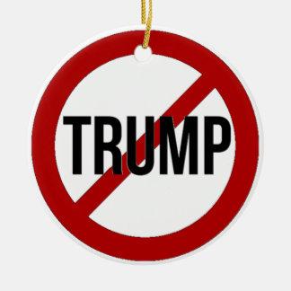 Stop Trump Ceramic Ornament