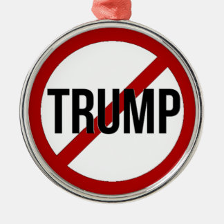 Stop Trump Metal Ornament