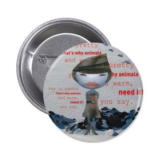 Stop using animal FUR! 6 Cm Round Badge