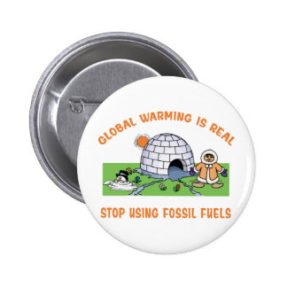 Stop Using Fossil Fuels 6 Cm Round Badge