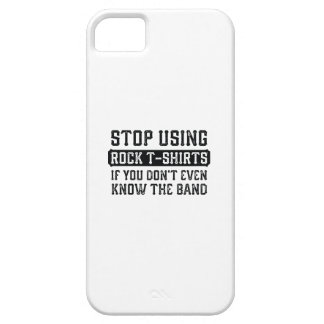 Stop Using Rock T-Shirts Case For The iPhone 5