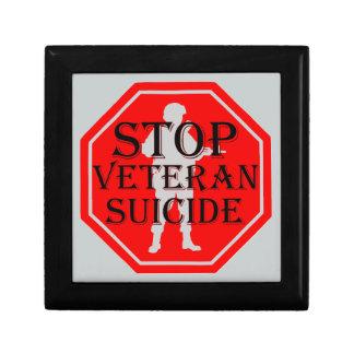 Stop Veteran Suicide Small Square Gift Box