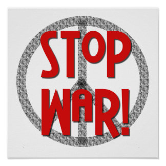 Stop War Peace Symbol T-shirts and Gifts Poster
