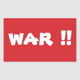 STOP War Stop Sign Sticker