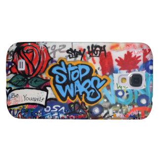 Stop Wars graffiti Galaxy S4 Case