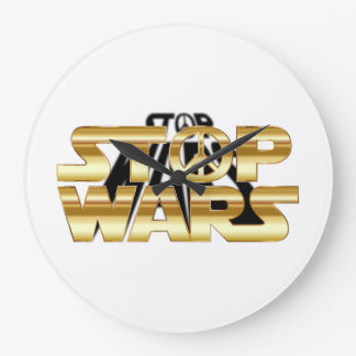 Stop Wars Large Clock