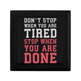 Stop When You Are Done - Gym Inspirational Gift Box