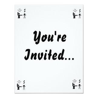 stop youre under arrest music humour 11 cm x 14 cm invitation card