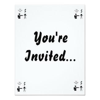 stop youre under arrest music humour 2 11 cm x 14 cm invitation card