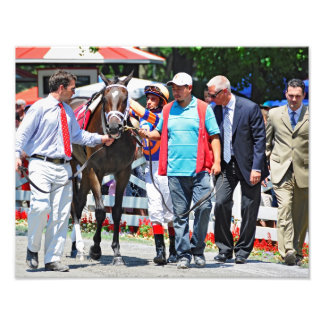 Stopchargingmaria victorious in her first race. photo art
