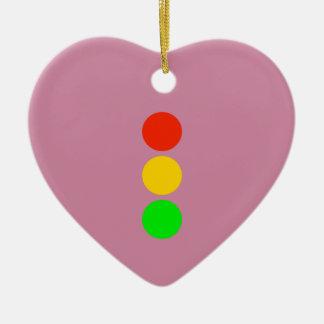 Stoplight Colors Ceramic Heart Decoration