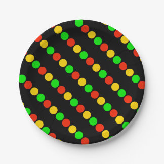Stoplight Colors Paper Plate