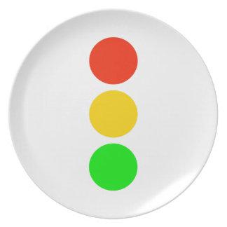 Stoplight Colors Plate