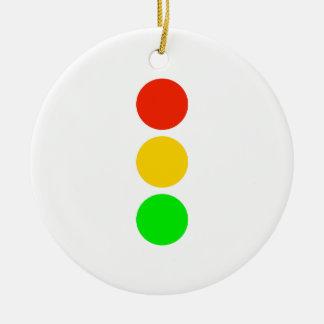 Stoplight Colors Round Ceramic Decoration