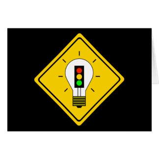 Stoplight Lightbulb Ahead Card