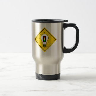 Stoplight Lightbulb Ahead Travel Mug