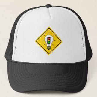 Stoplight Lightbulb Ahead Trucker Hat