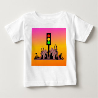 Stoplight with Bunnies, Dreamy Background Baby T-Shirt
