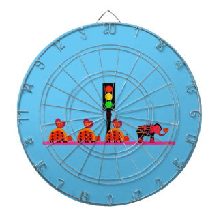 Stoplight with Heart Caravan Dartboard