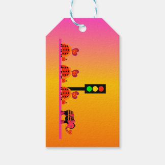 Stoplight with Heart Caravan, Dreamy Background Gift Tags