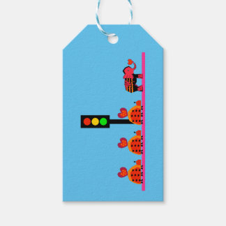 Stoplight with Heart Caravan Gift Tags