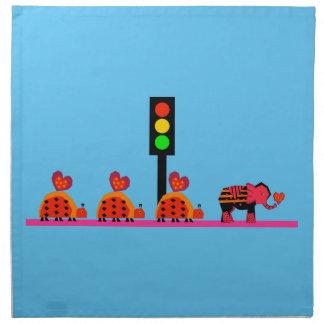 Stoplight with Heart Caravan Napkin