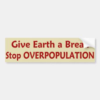 StopOVERPOPULATION Bumper Sticker