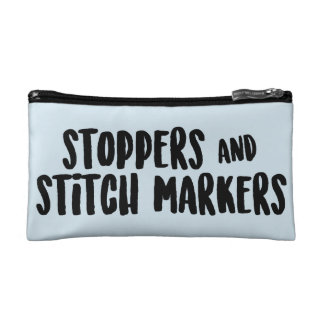 Stoppers and Stitch Markers Zipper Pouch Cosmetic Bag