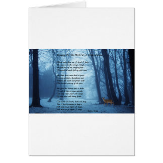 Stopping By The Woods by: Robert Frost Card