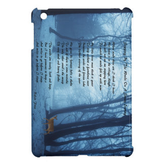 Stopping By The Woods by: Robert Frost iPad Mini Covers