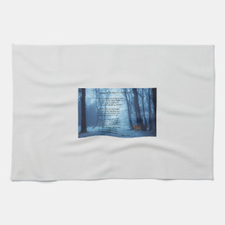 Stopping By The Woods by: Robert Frost Kitchen Towels