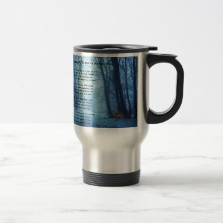 Stopping By The Woods by: Robert Frost Travel Mug