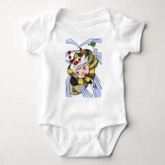 Stopping permission! Empty tsu Kazetarou English Baby Bodysuit