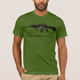 Stops Jihad on Contact M4 T-Shirt