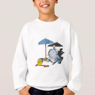 StopWatchBeachChairUmbrella101115 Sweatshirt
