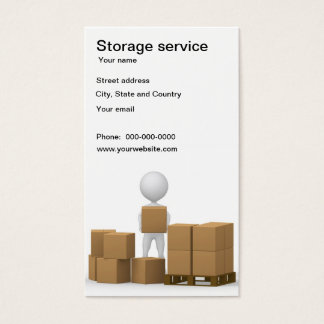 Storage service business card