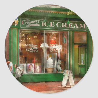 Store Front - Alexandria, VA - The Creamery Classic Round Sticker