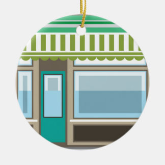 Store Front Vector Ceramic Ornament