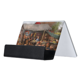 Store - Fruit - Grand dad's fruit stand 1939 Desk Business Card Holder