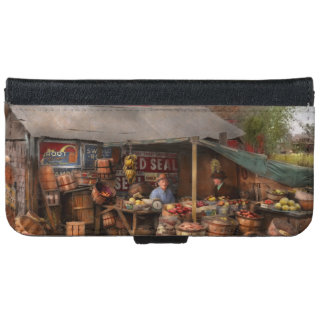 Store - Fruit - Grand dad's fruit stand 1939 iPhone 6 Wallet Case
