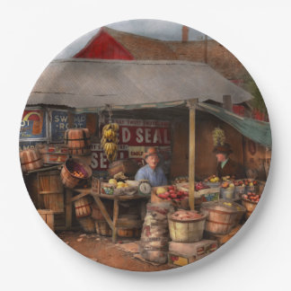 Store - Fruit - Grand dad's fruit stand 1939 Paper Plate