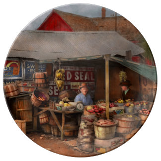 Store - Fruit - Grand dad's fruit stand 1939 Plate