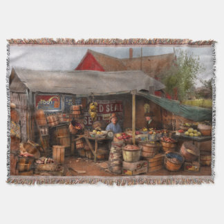 Store - Fruit - Grand dad's fruit stand 1939 Throw Blanket