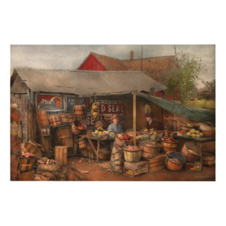 Store - Fruit - Grand dad's fruit stand 1939 Wood Print