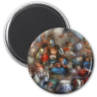 Store - The busy marketpalce 6 Cm Round Magnet