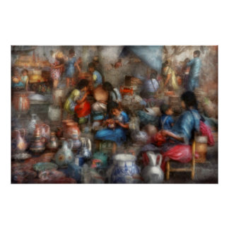 Store - The busy marketpalce Print