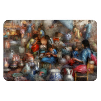 Store - The busy marketpalce Rectangular Photo Magnet