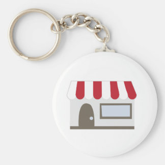 Storefront Building Keychains